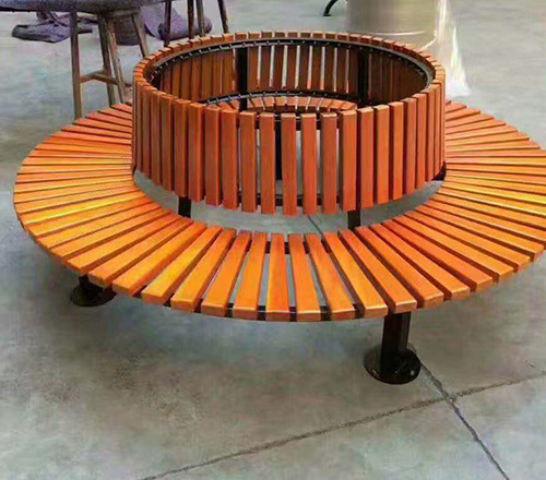 圆形花箱座椅