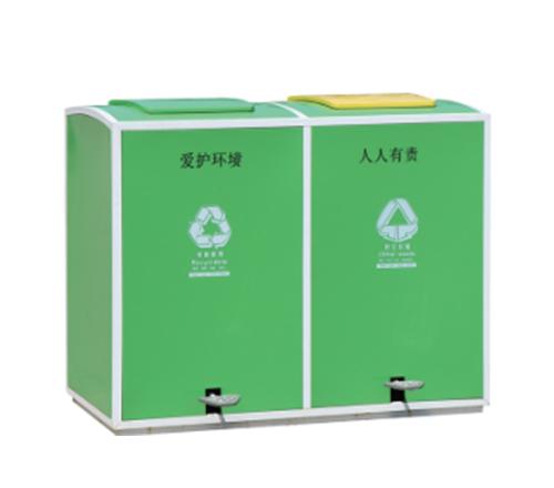 绿色垃圾箱