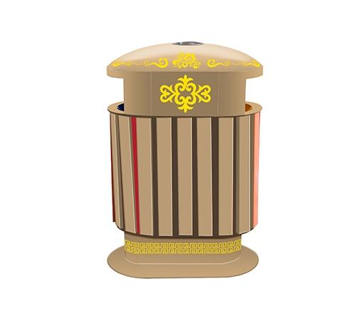 蒙古元素垃圾桶
